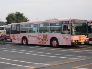 運がいいと立川バス瑞穂営業所でリラックマの特別塗装車が見れます!